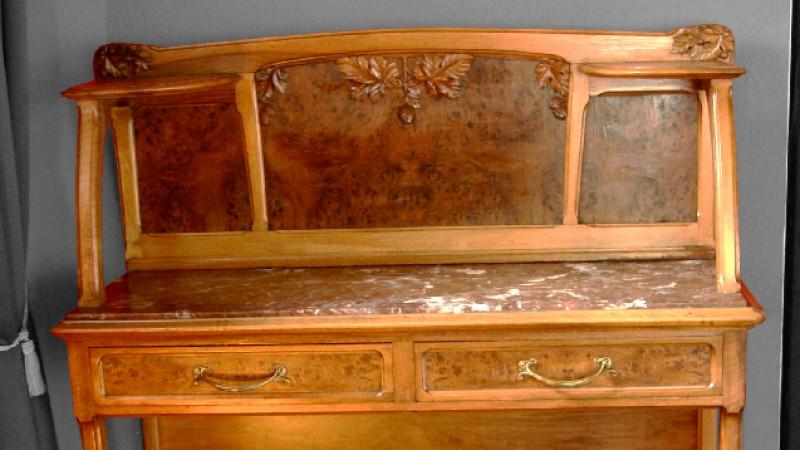le garde temps antiquit s desserte art nouveau. Black Bedroom Furniture Sets. Home Design Ideas