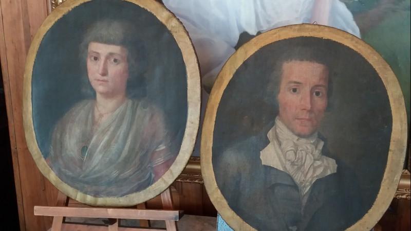 Les époux Gardian - Huile sur toile, 1794