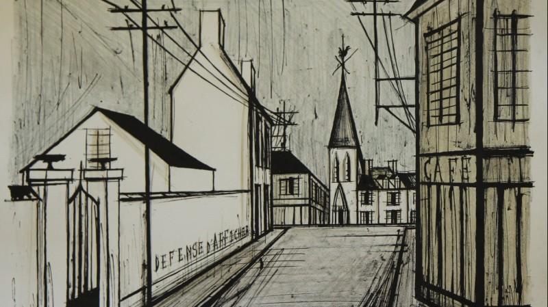 Bernard Buffet (1928-1999) - Rue de village, 1969