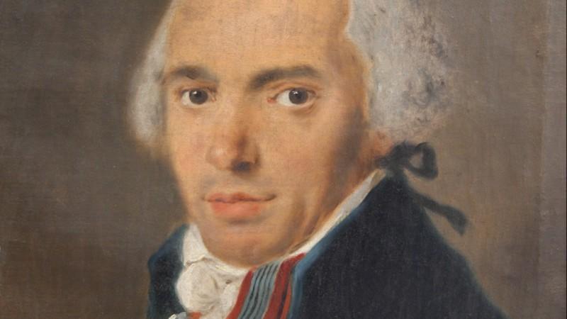 Portrait d'homme, fin XVIIIe - Daté au dos 1796