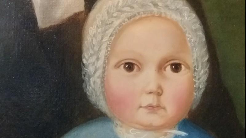 Portrait de famille, 1852 - Huile sur toile, signée Droz