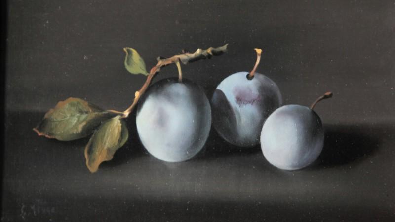 Charles MENGE (1920-2009) - Nature morte aux prunes, 1974