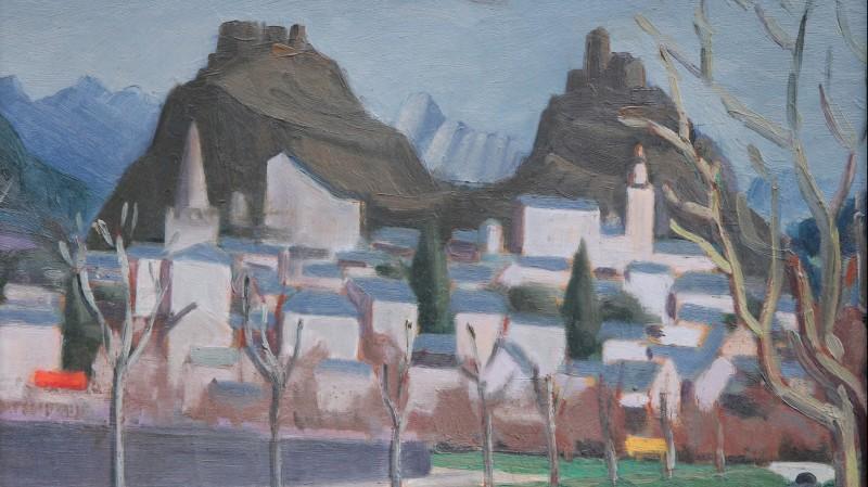 Joseph GAUTSCHI (1900-1977) - Vue de Sion