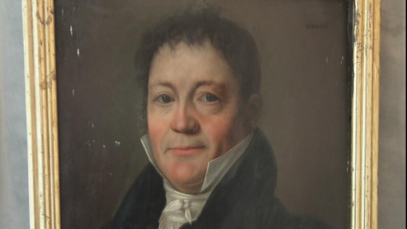 Portrait d'homme, époque Empire - Huile sur bois