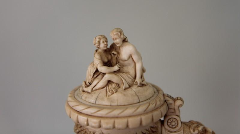 Chope en ivoire sculpté, XIXe siècle - Allemagne, vers 1880
