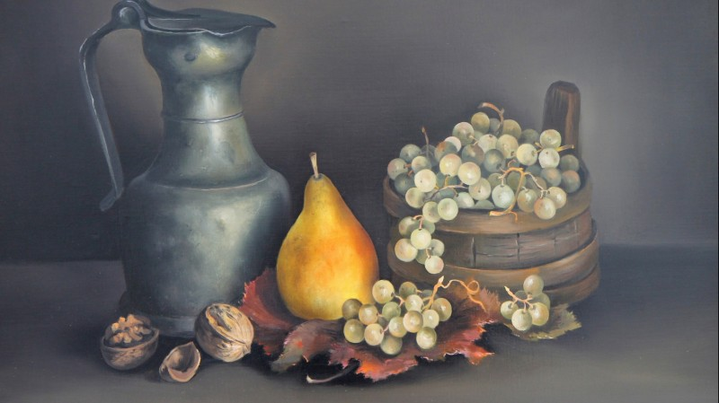 Charles MENGE (1920-2009) - Nature morte à la channe, 1983