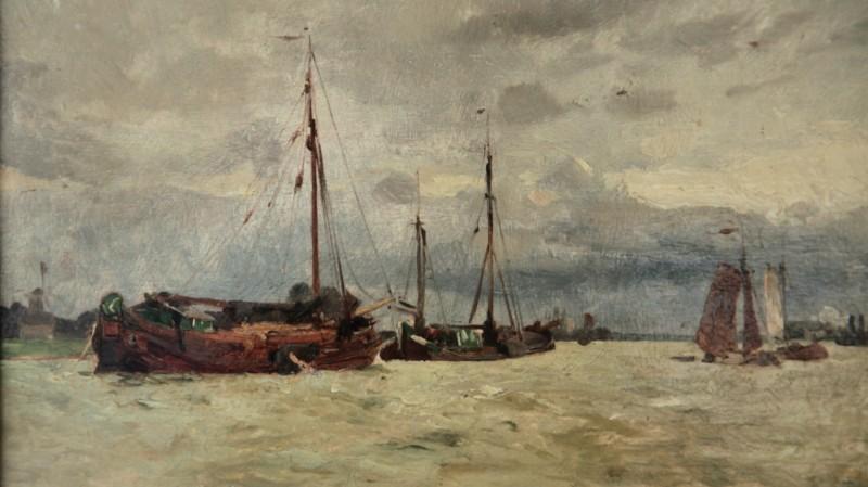 Emile-Charles Dameron (1848-1908) - Huile sur panneau