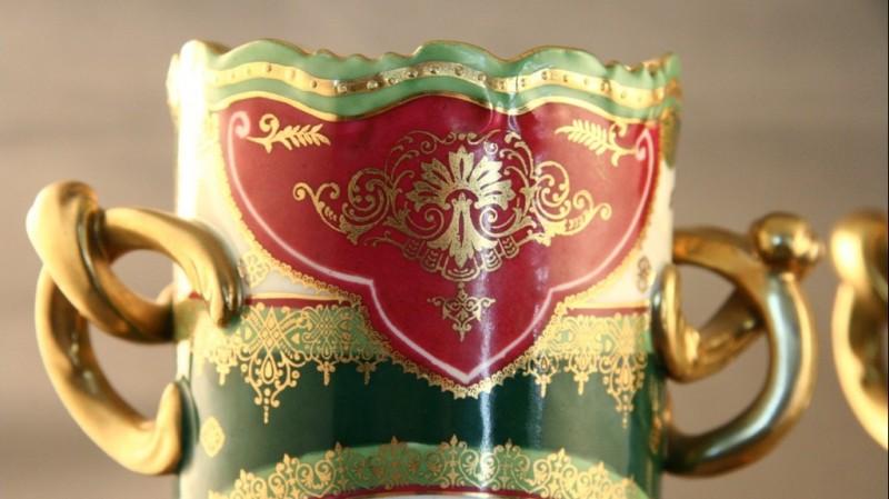 Paire de vases de Vienne - Entre 1877 et 1880
