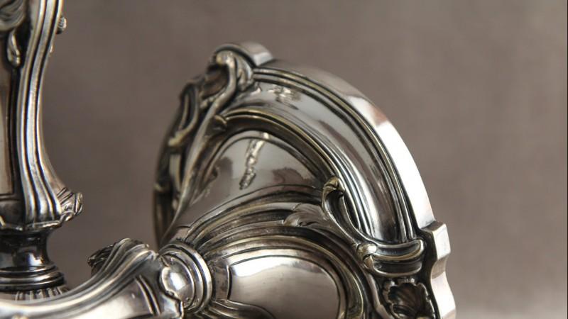 Flambeaux Christofle - Bronze argenté, Paris 1897