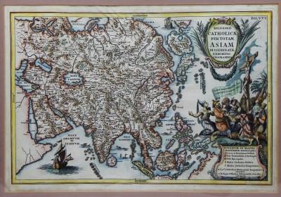 Heinrich SCHERER (1628-1704) - Atlas Novus, carte de l'Asie, ca 1703