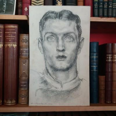 Charles L'EPLATTENIER (1874-1946) - Portrait au fusain, 1919