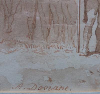 Auguste DOVIANE (1825-1887) - Aquarelle