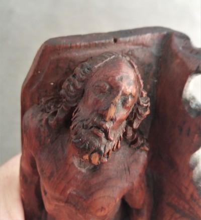 Christ mort, bois de tilleul - Ecole allemande, XVIIe siècle
