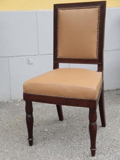Chaise en acajou, époque Empire - Estampillée Jacob Desmalter