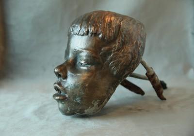 Mascaron de fontaine en bronze - Art Déco, vers 1930