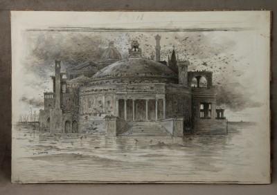 Eugène BURNAND (1850-1921) - Capriccio, vers 1870