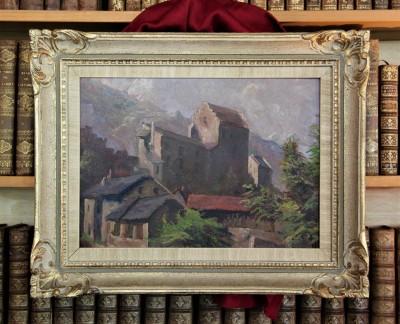 François DUVAL (1869-1937) - Vieille ville de Sion