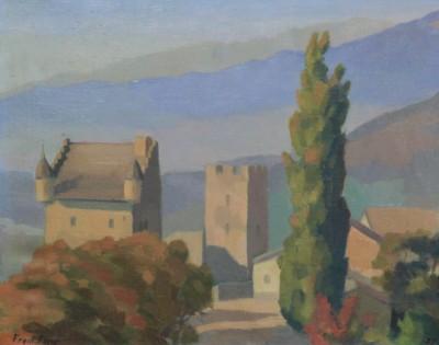 Fred FAY (1901-1987) - Vue de Loèche, 1927