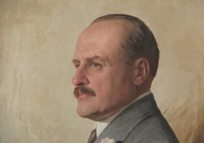 Portrait d'homme, daté 1920 - G. Bröd