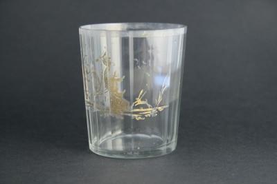 Gobelet en cristal, XVIIIe siècle - Décor à l'or