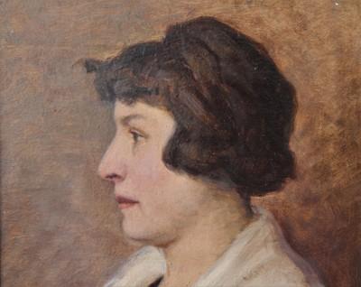 Louis Gianoli (1868-1957) - Portrait, huile sur carton