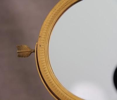 Miroir de table en bronze doré - Epoque Empire - Restauration