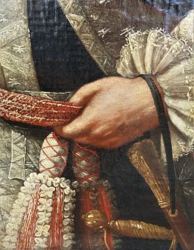 Capitaine au 1er régiment des Gardes suisses - Huile sur toile, Naples vers 1760