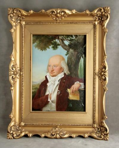Portrait d'homme, huile sur bois - Fin du XVIIIe - début du XIXe siècle