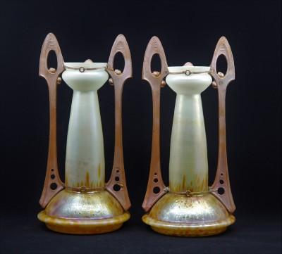 Ferdinand von Poschinger (1867-1921) - Paire de vases Art Nouveau, vers 1900