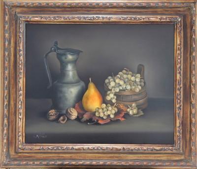 Charles MENGE (1920-2009) - Nature morte à la channe, 1983