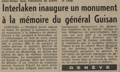 Tribune de Lausanne, 2/8/1964