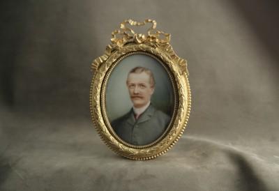 Ernest de Landerset (1832-1907) - Miniature sur ivoire, 1899