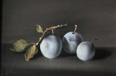 Charles MENGE (1920-2009) - Nature morte aux prunes, 1974