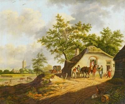 Un clocher qui semble le même que celui de notre tableau se retrouve sur une oeuvre de Pieter Gerardus.