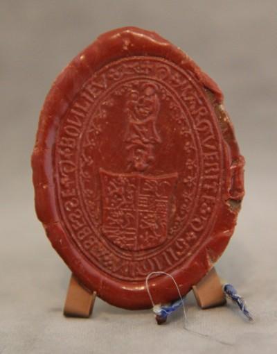 Marguerite de Gingins, abbesse de Bonlieu - Grand sceau de cire, ca 1460