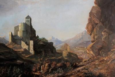 François DUVAL (1869-1937) - Sion, la basilique de Valère, 1926