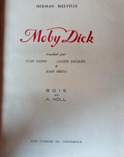 Moby Dick - Rarissime 1ère édition en français