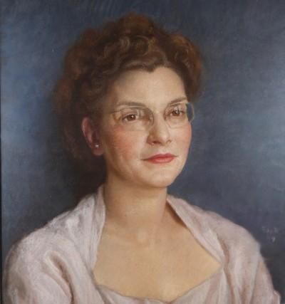 François de RIBAUPIERRE (1886-1981) - Portrait de femme, pastel, 1949