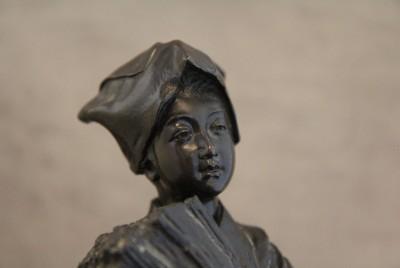 Okimono en bronze massif - Tokyo, vers 1880