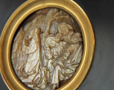 Médaillon en nacre, XVe siècle - Allemagne, vers 1480