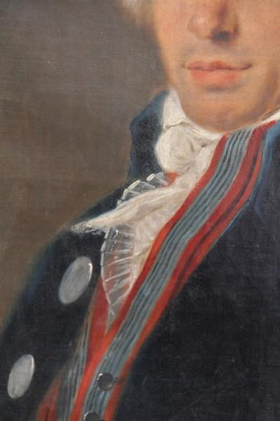 Portrait d'homme, âgé de 46 ans - Daté au dos 1796