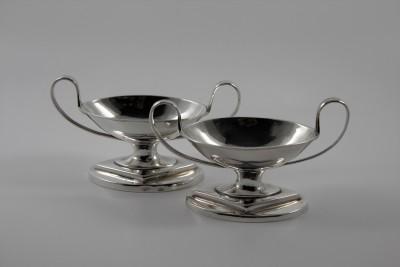 Paire de salerons néoclassiques - s.d. Allemagne, fin du XVIIIe - début du XIXe