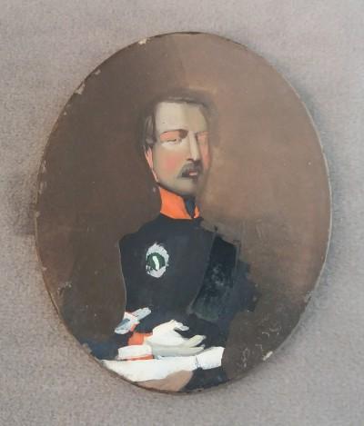 Louis-Napoléon Bonaparte, prince président - Miniature fixée sous verre