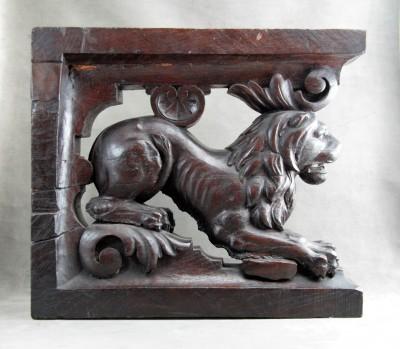Éléments de stalle - Chêne sculpté, XVIIe siècle