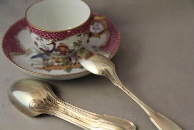 Six cuillères à thé en vermeil - Strasbourg, 1750-1789