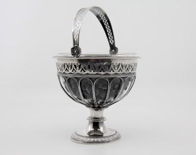 Corbeille à baies en argent massif, XIXe - Georg Adam Rehfues, Berne vers 1820