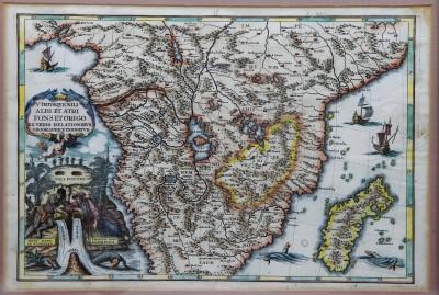 Heinrich SCHERER (1628-1704) - Atlas Novus, carte du sud de l'Afrique, ca 1703