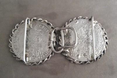 Boucle de ceinture - Deux thalers de Salzburg montés