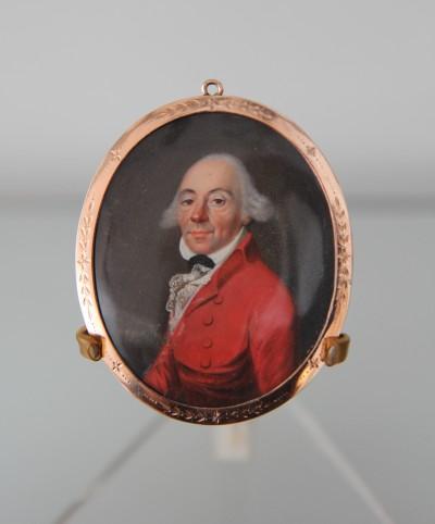 Miniature sur ivoire - École anglaise (?), vers 1800