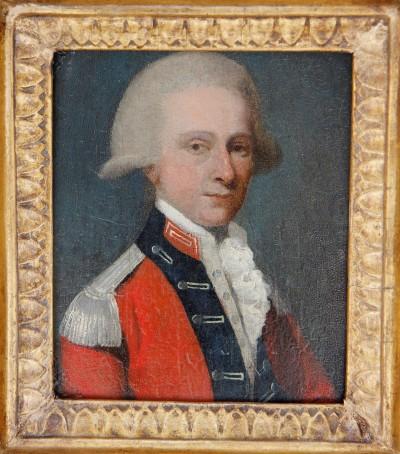 Portrait d'officier anglais - Epoque George III, vers 1780